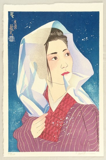 "Paul Binnie - Prints - Bijin-ga - ""Winter"" Fuyu"