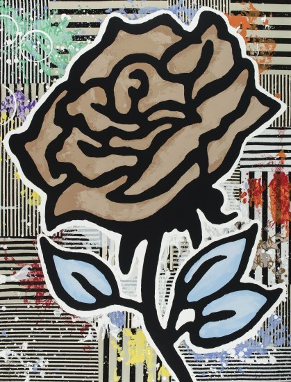 Donald Baechler - Brown Rose
