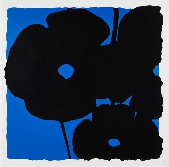 Donald Sultan - Blue and Black, Nov 6, 2015