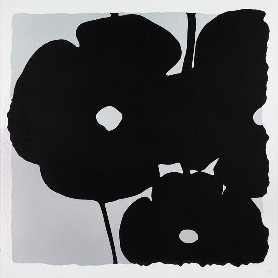 Donald Sultan - Silver and Black, Nov 6, 2015