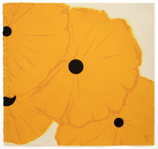 Donald Sultan - Yellow Poppies - Sept 12, 2013