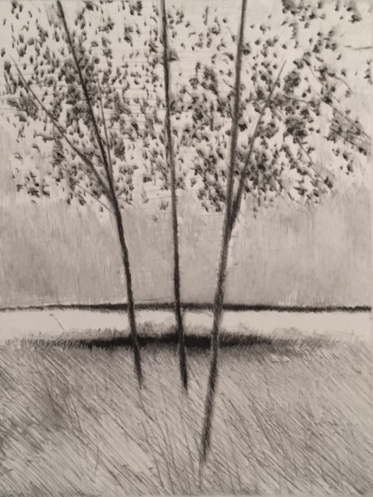 Robert Kipniss - Dry Points - Rain at noon