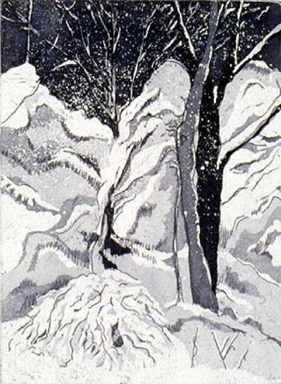 Ellen Nathan Singer - Prints - Snowfall