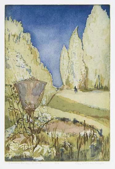Ellen Nathan Singer - Prints - Summer Garden, England