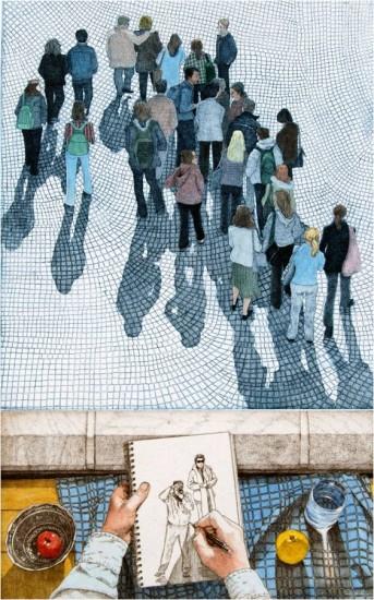 Eric Goldberg - Prints - Footbridge with Still Life