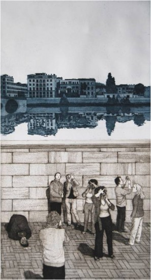 Eric Goldberg - Prints - Near the Uffizi (Will Draw for Food)