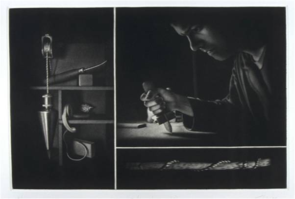 Francisco Souto - Settling II (Homage to the mezzotint)