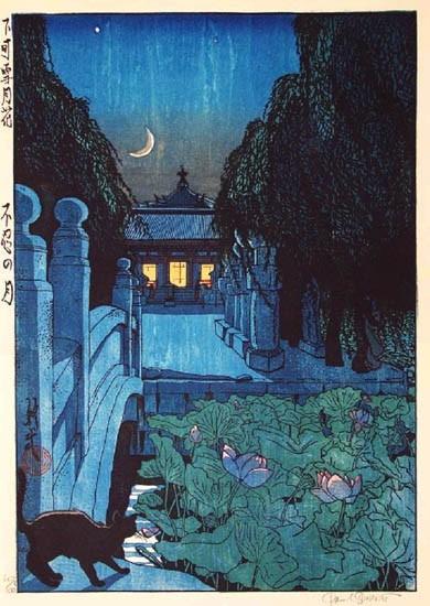 """Paul Binnie - Fukei-ga - Prints - """"Moon over Shinobazu"""" Shinobazu no tsuki"""