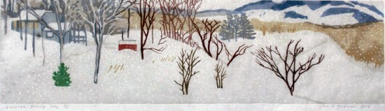 Jane Goldman - Prints - Quechee Snowy Day