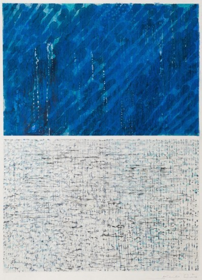 Keiko Hara - Works on paper - Verse - Ma in Blue