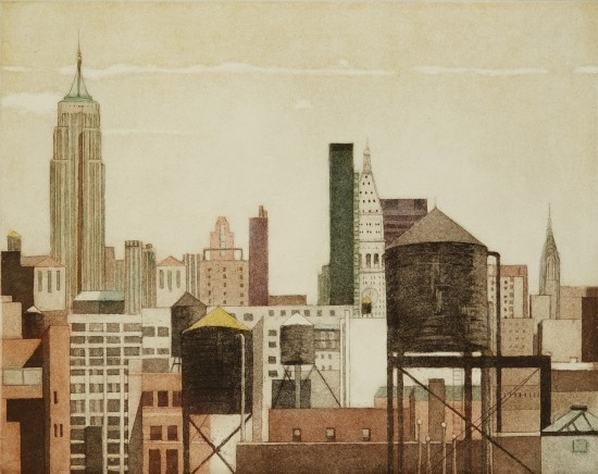 Linda Adato - Color etchings: urban landscapes and other imagery - Urban Icons