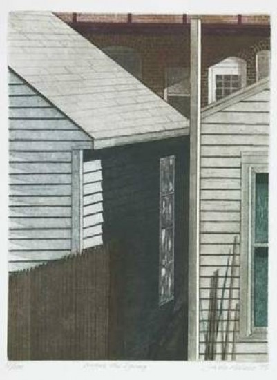 Linda Adato - Color etchings: urban landscapes and other imagery - Before the Spring