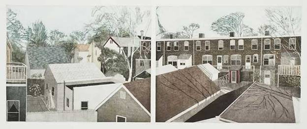 Linda Adato - Color etchings: urban landscapes and other imagery - Behind the Scenes