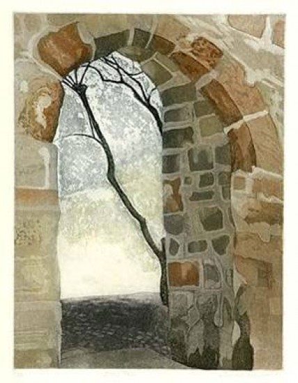 Linda Adato - Color etchings: urban landscapes and other imagery - Bone Tree