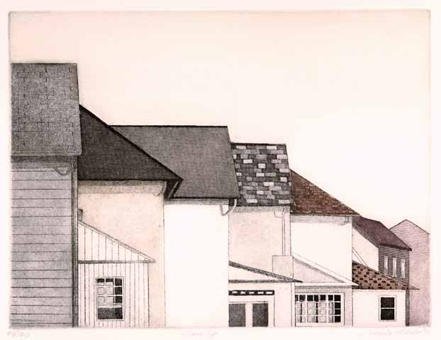 Linda Adato - Color etchings: urban landscapes and other imagery - Line Up