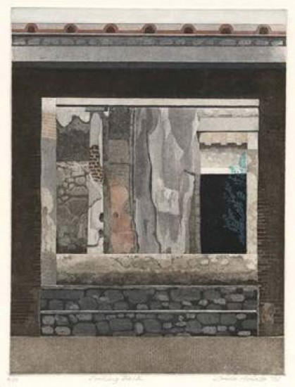 Linda Adato - Color etchings: urban landscapes and other imagery - Looking Back