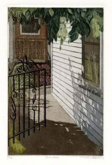 Linda Adato - Color etchings: urban landscapes and other imagery - Open Gate