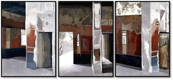 """Linda Adato - Color etchings: urban landscapes and other imagery - """"Solitude"""", """"Interlude"""", """"Continuity"""""""
