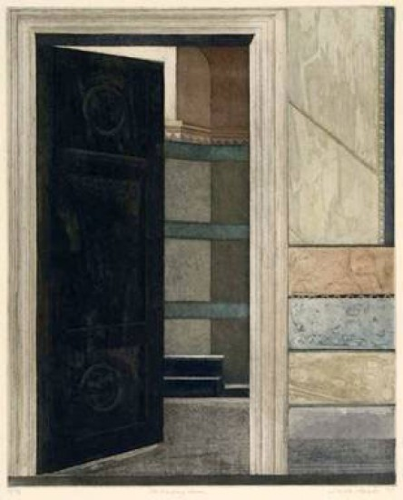 Linda Adato - Color etchings: urban landscapes and other imagery - Waiting Room, The