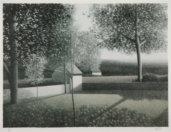 Robert Kipniss - Lithographs - Backyard II