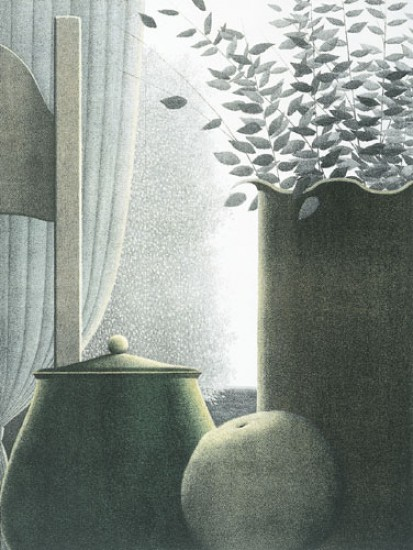 Robert Kipniss - Lithographs - Curtains and Leaves