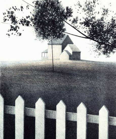 Robert Kipniss - Lithographs - Picket Fence I