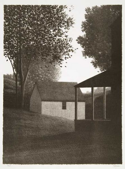 Robert Kipniss - Lithographs - Backyard III