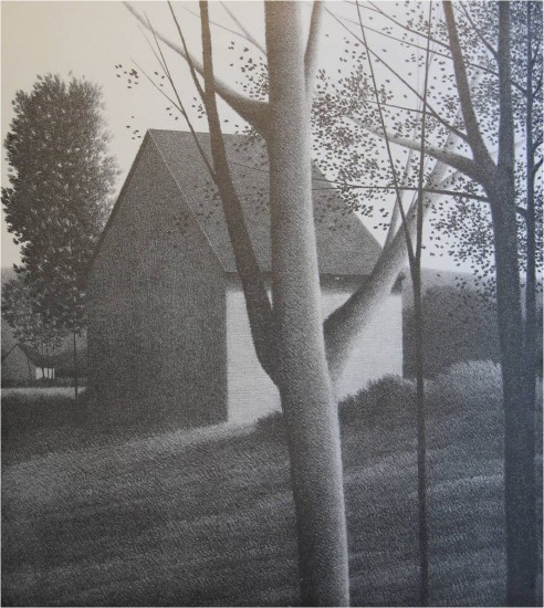 Robert Kipniss - Lithographs - Backyard IV