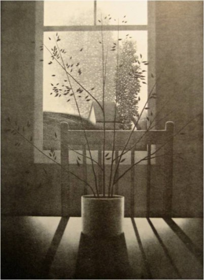 Robert Kipniss - Lithographs - Interior w Chair and Shadow