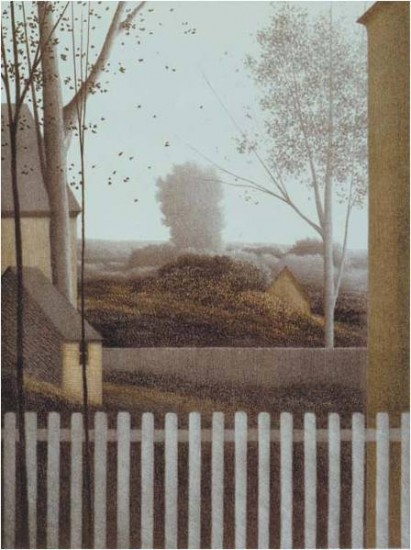 Robert Kipniss - Lithographs - Picket Fence II