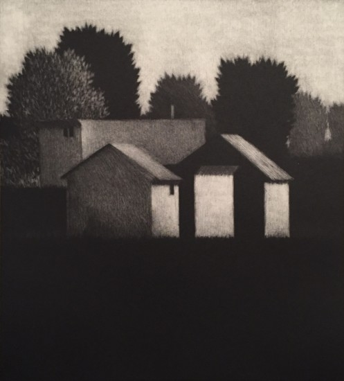 Robert Kipniss - Mezzotints - Four houses II