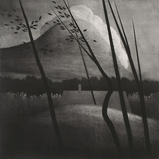 Robert Kipniss - Mezzotints - Camelback Mountain and cloud