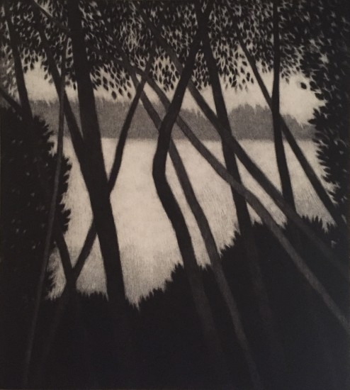 Robert Kipniss - Mezzotints - Riverside