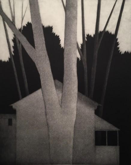 Robert Kipniss - Mezzotints - Dusk, silhouettes
