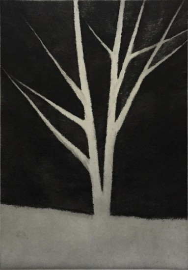 Robert Kipniss - Mezzotints - A dark space defining a tree