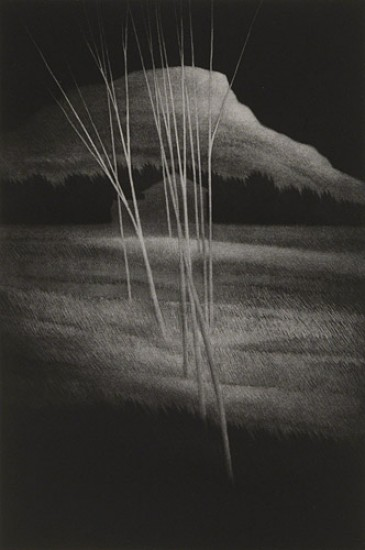 Robert Kipniss - Mezzotints - Ghost Mountain