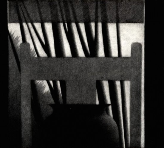 Robert Kipniss - Mezzotints - Interior w/shade & vase