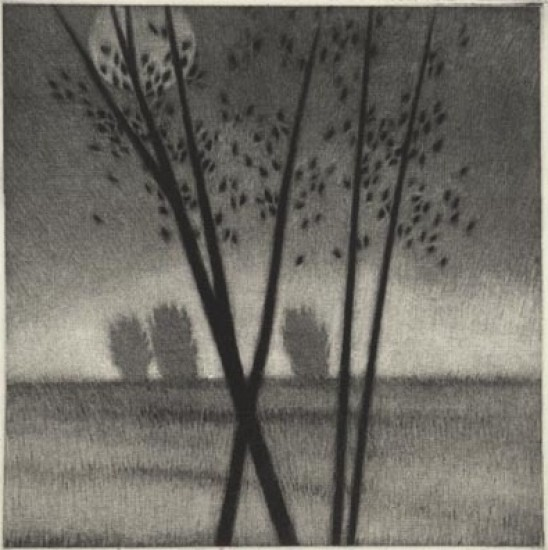Robert Kipniss - Mezzotints - Moon at morning
