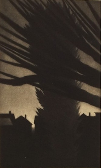 Robert Kipniss - Mezzotints - Rooftops, Lakeville