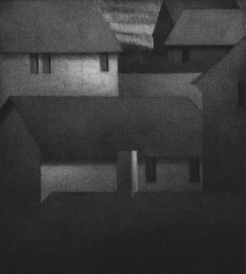 Robert Kipniss - Mezzotints - Rooftops & windows