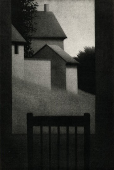Robert Kipniss - Mezzotints - Window at dusk