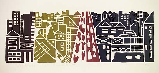 Richard Sloat - Prints - City Passage