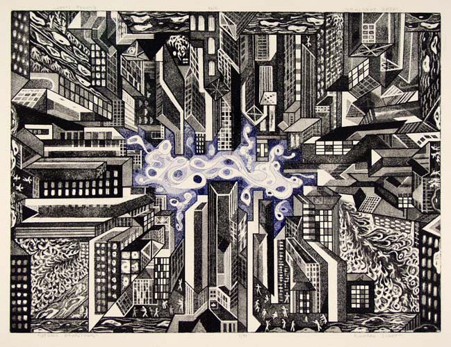 Richard Sloat - Prints - Upside, Downtown