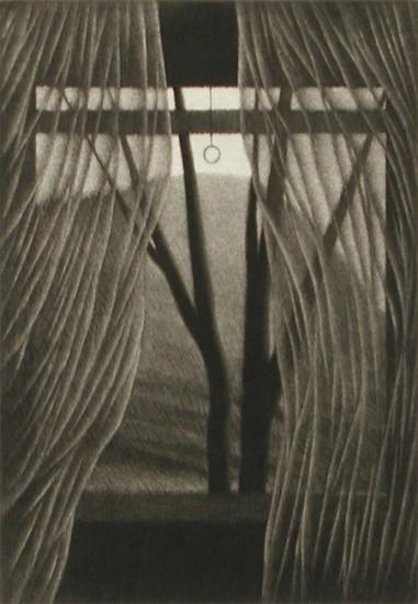 Robert Kipniss Intaglios - Prints - Interior w/ mountain, 2004