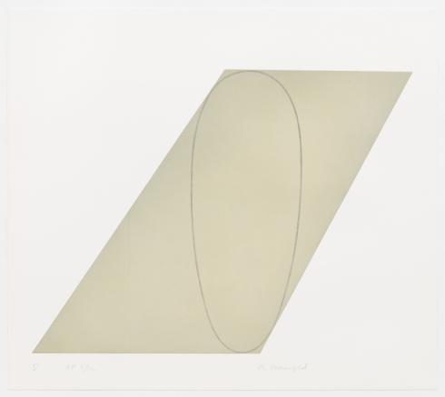 Robert Mangold - V, from Attic Series I (I-V)