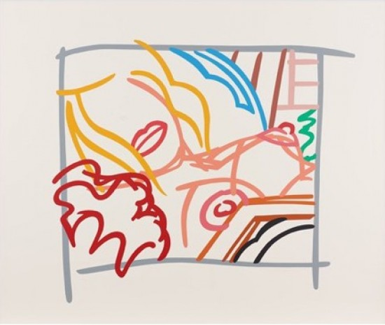 Tom Wesselmann - Bedroom Blonde Doodle with Photo, 1988