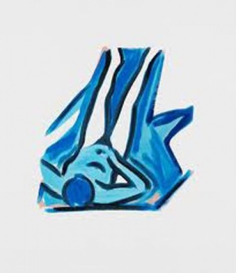 Tom Wesselmann - Blue Nude #2, 2001
