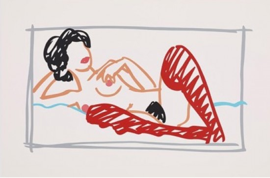Tom Wesselmann - Fast Sketch Red Stocking Nude, 1991