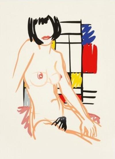 Tom Wesselmann - Monica Sitting with Mondrian, 1989