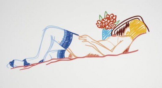 Tom Wesselmann - Nude with Bouquet and Stockings, 1992